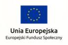 UE Europejski Fundusz Społeczny
