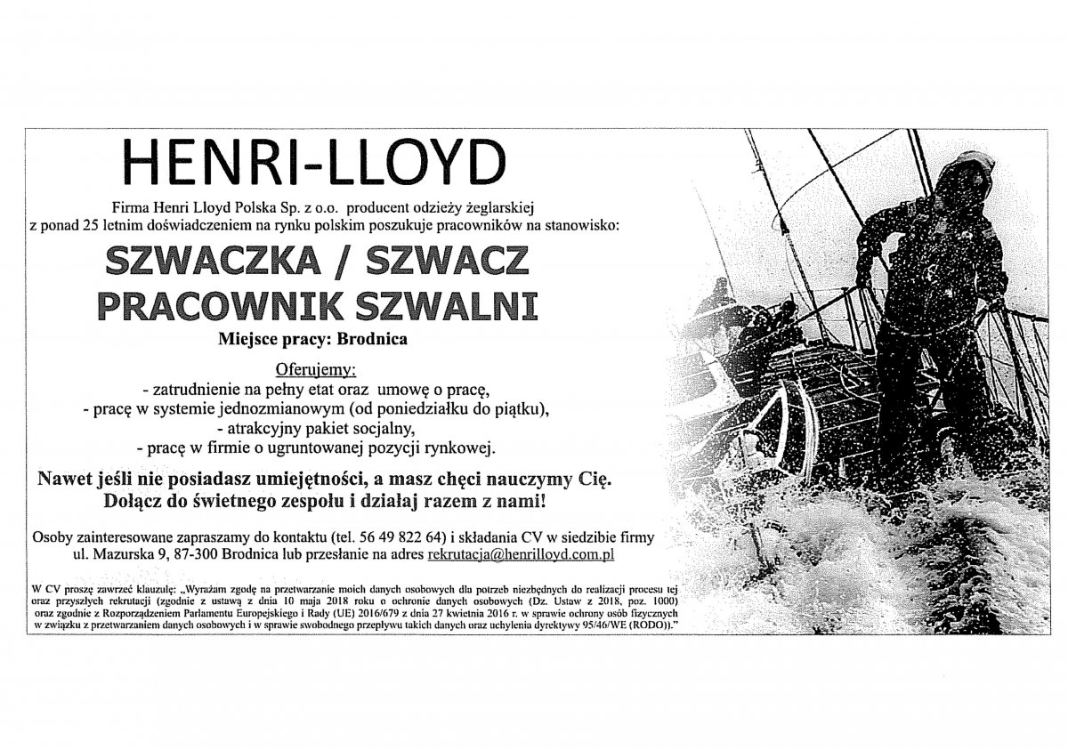 new style 058c5 a7f51 OGŁOSZENIE O NABORZE PRACOWNIKÓW DO PRACY W HENRI – LLOYD ...